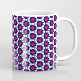 Red & Blue Pattern Coffee Mug