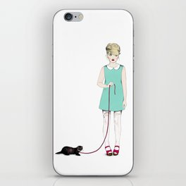 The girl with the ferret iPhone Skin