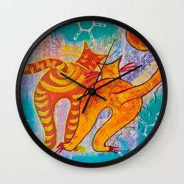 Cat Paradise Wall Clock