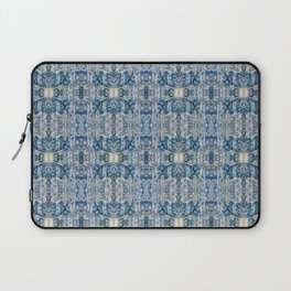 Sand and Stone Blue Pattern Design Abstract Laptop Sleeve