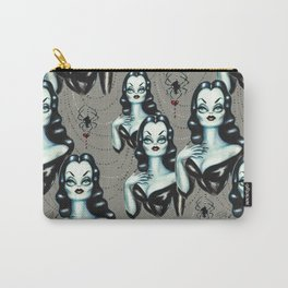 Vampire Vixen with Black Widow Spider Carry-All Pouch