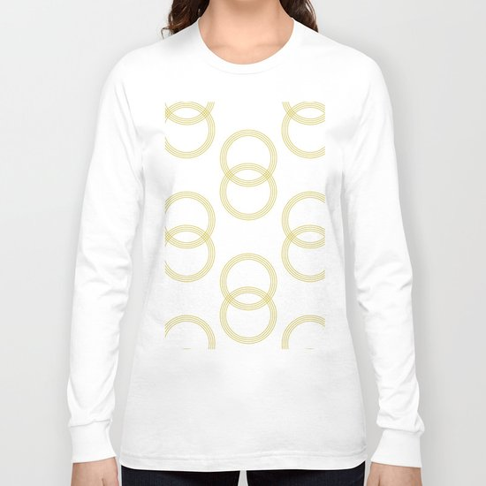 Simply Infinity Link Mod Yellow and White Long Sleeve T-shirt