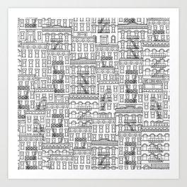 New York Hand Drawn Illustration Art Print