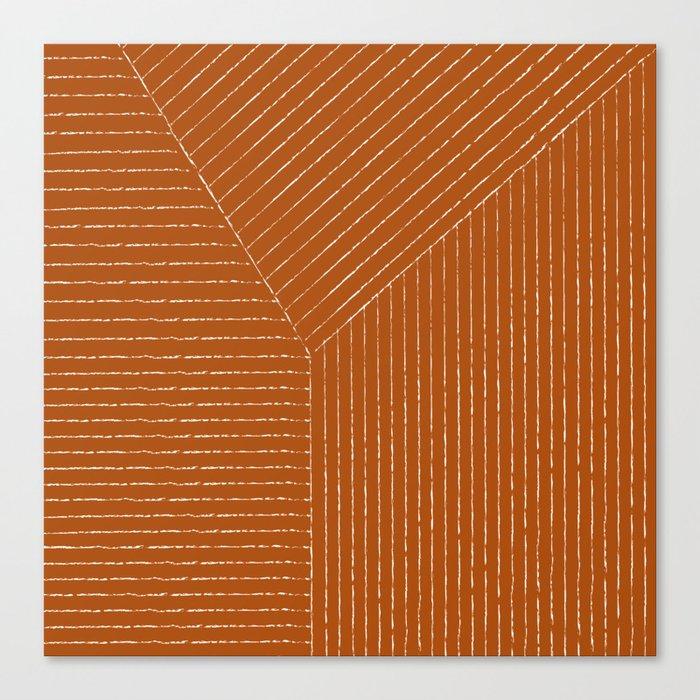 Lines (Rust) Leinwanddruck