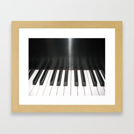 Piano keys Framed Art Print