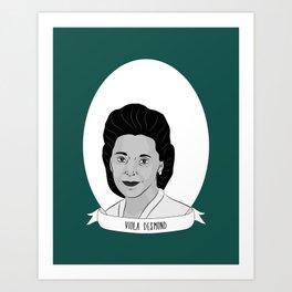 Viola Desmond Illustrated Portrait Art Print