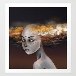 Storm Elemental Art Print