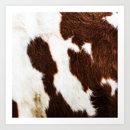 Cowhide Brown Spots Art Print