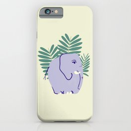 Fern Elephant iPhone Case