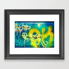 Yellow Drip Framed Art Print