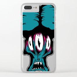 blue alien monster Clear iPhone Case