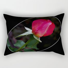 double delight rose bud  Rectangular Pillow