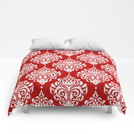 Red Damask Comforters