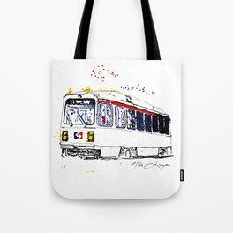 Septa Trolley Art: Philly Public Transportation Tote Bag