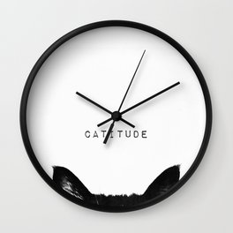 cat - catitude Wall Clock
