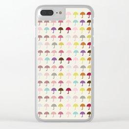 Umbrella Fashion Show Clear iPhone Case