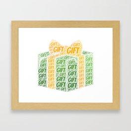 Gift Word Cloud Shirt Framed Art Print