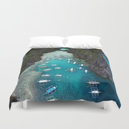 Island hopping in the Philippines Duvet Cover
