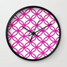 Interlocking Pink Wall Clock