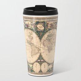 Vintage World Art Map Travel Mug