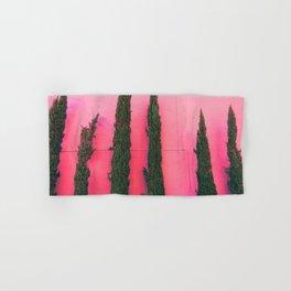 proud pink pines Hand & Bath Towel