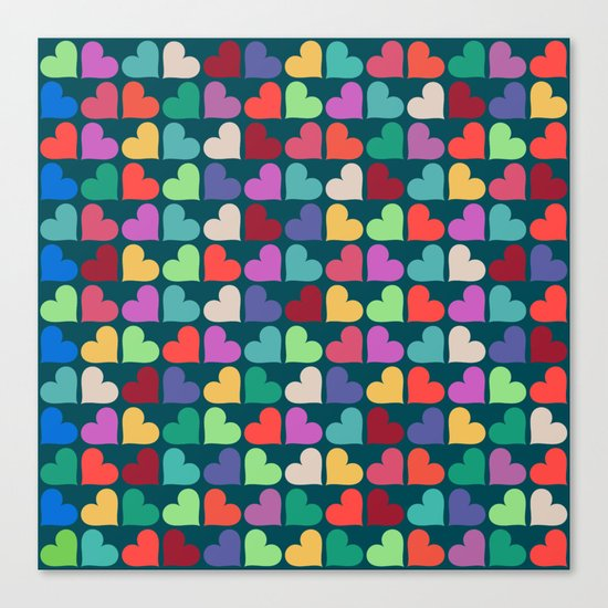 Colorful Love Pattern XII Canvas Print