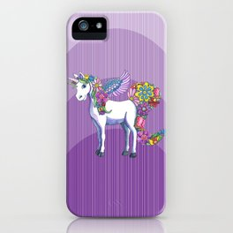 Magical Unicorn in a Hazy Purple Sunset iPhone Case