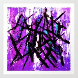 Choppy Lilac Art Print