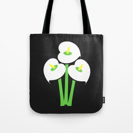 Calla Lily Bouquet (Black) Tote Bag