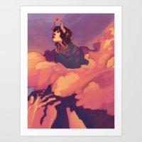 heroes Art Prints featuring Heroes by James M. Fenner