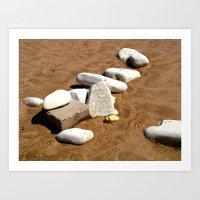 White Stones at Dane's Dyke  Art Print