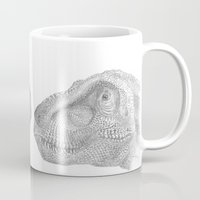trex Mugs featuring TRex by KC Gillies