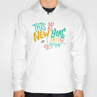 new year Hoodies featuring New Year by Chelsea Herrick