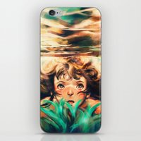 rock iPhone & iPod Skins featuring The River by Alice X. Zhang