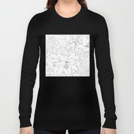 Asiatic Lillies I line art Long Sleeve T-shirt