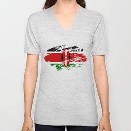Kenya Flag Tee Unisex V-Neck