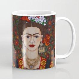 Frida with butterflies Coffee Mug