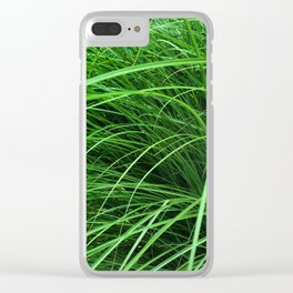 470 - Abstract Grass Design Clear iPhone Case