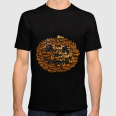 Halloween bats and pumpkin Mens Fitted Tee LARGE Black