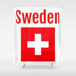 Sweden - Swiss Flag Shower Curtain