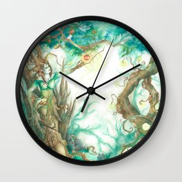 Guardian of the Forest. Wall Clock