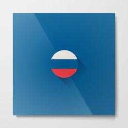 Minimal Russia Flag Metal Print