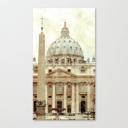 Rome Flea Market Canvas Print