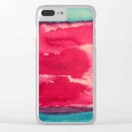 color abstract 8 Clear iPhone Case