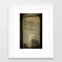 dentist Framed Art Prints featuring Victorian Dentist Sign by Adrian Evans