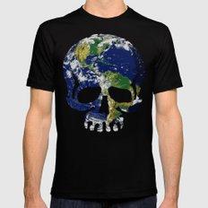 Skull Earth Mens Fitted Tee Black MEDIUM