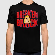 Break'em Brock MEDIUM Mens Fitted Tee Black
