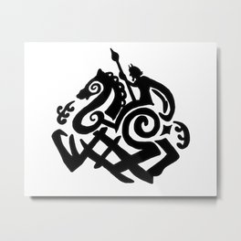 Odin And Sleipnir Metal Print