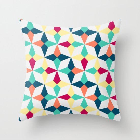 FloralGeometric Throw Pillow