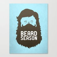 sexy Canvas Prints featuring Beard Season by Chase Kunz